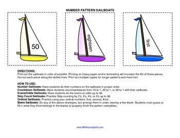 Little Learning Labs Primary Prek Pattern Sailboats - numb