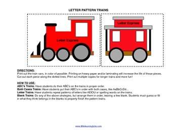 Little Learning Labs Primary Prek Pattern Trains ABCs