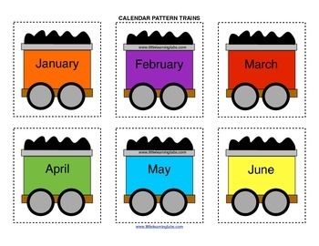 Little Learning Labs Primary Prek Pattern Trains Calendar Months Days Seasons