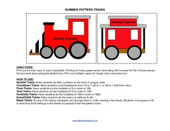 Little Learning Labs Primary Prek Pattern Trains Numbers