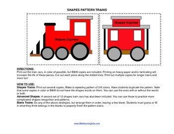 Little Learning Labs Primary Prek Pattern Trains Shapes