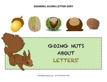 Little Learning Labs - Squirrel Acorn Sorting Activity - S