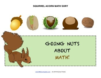 Little Learning Labs - Squirrel Acorn Sorting Activity - Sorting Math
