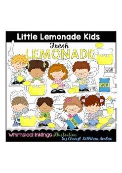 Little Lemonade Kids Clipart Collection