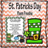 Little Leprechaun Poem poster - Freebie!
