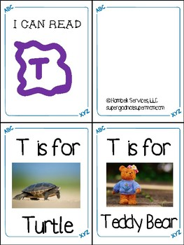Little Letter Alphabet Books- Letters S Through Z- Letter of the Week Tool