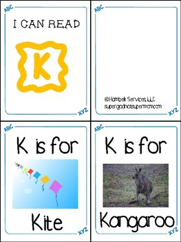 Little Letter Books- Letters J through R- Letter Recognition Tool