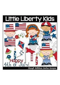 Little Liberty Kids Clipart Collection