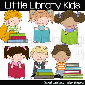 Little Library Kids Clipart Collection