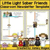 Little Light Saber Friends Newsletter Template - Editable!