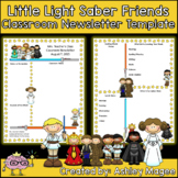 Little Light Saber Friends Newsletter Template - Editable!