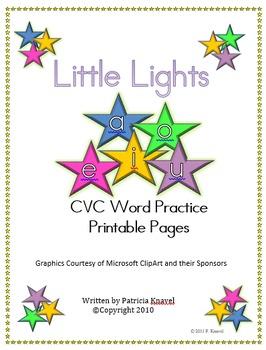 Little Lights Bundle-Comprehensive Study of Short Vowel Words