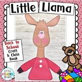 Little Llama Book Companion Back to School Craft