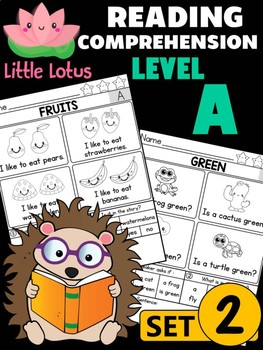Little Lotus Reading Comprehension and Fluency - Level A - Set 2