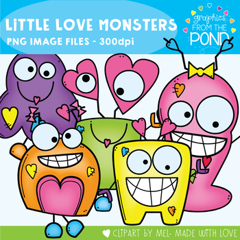 Little Love Monsters - Great for Valentine's Day