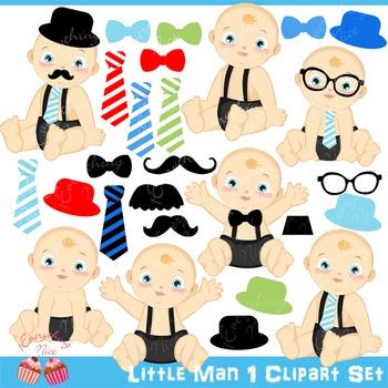 Little Man Babies 1 Clipart Set