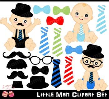 Little Man Clipart Set