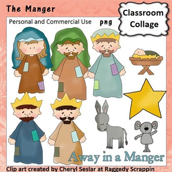 Little Manger clip art - Color - personal/comm  use