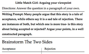 Little Match Girl Search and find, Fig. Lang, Sent. Types, Writing