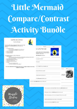 Little Mermaid Compare and Contrast Bundle