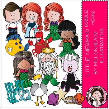 Little Mermaid clip art - Bobbleheadz - Melonheadz clipart