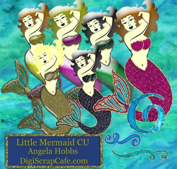 Little Mermaids Posers and Template