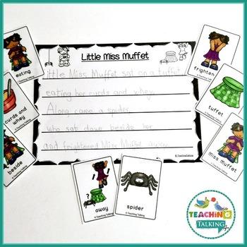 Nursery Rhyme Activities for Little Miss Muffett
