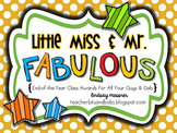End of the Year Awards {Little Miss & Mr. Fabulous Awards}