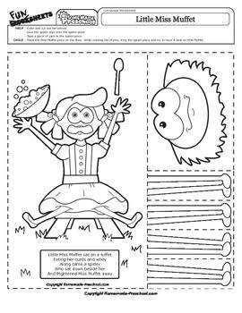 Little Miss Muffet - Nursery Rhyme Activity