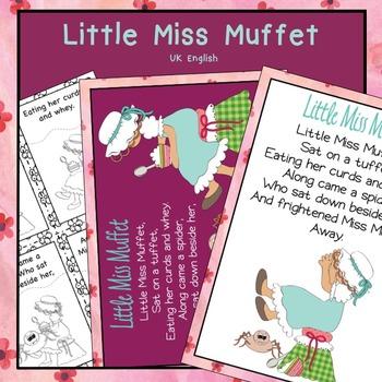 Little Miss Muffet Nursery Rhyme Pack AUS UK