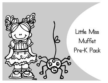 Little Miss Muffet Activity Pack