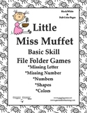 Little Miss Muffet Basic Skill File Folder Games