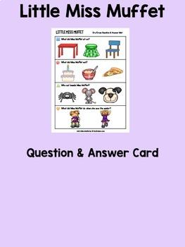 Little Miss Muffet Books & Sequencing Cards