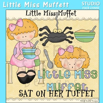 Little Miss Muffet Clip Art C Seslar
