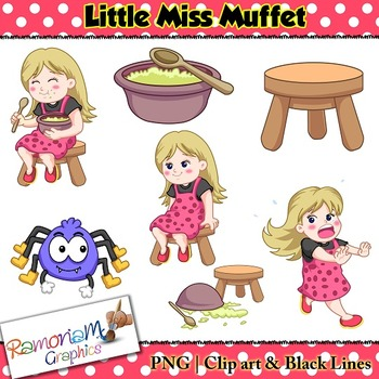 Little Miss Muffet Clip art