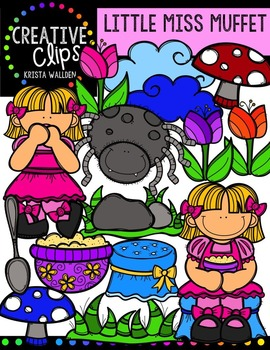 Little Miss Muffet {Creative Clips Digital Clipart}