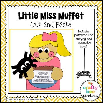 Little Miss Muffet Cut and Paste