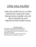 Little Miss Muffet- ELA fun with spiders