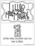 Little Miss Muffet Early Emergent Reader. Pre-K and Kindergarten Reading.