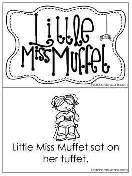 Little Miss Muffet Early Emergent Reader. Pre-K and Kindergarten Reading.