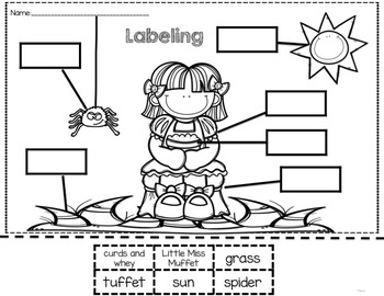 Little Miss Muffet Sub Plans (Kindergarten Sub Plans)