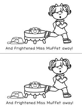 Little Miss Muffet Emergent Reader Nursery Rhyme