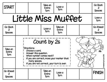 Little Miss Muffet Game--Counting by 2s
