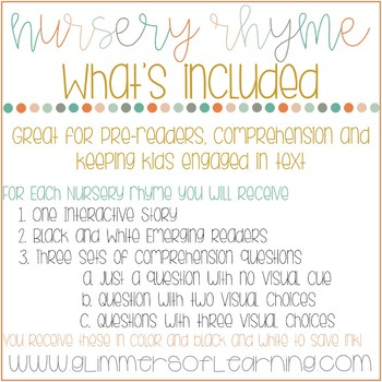 Little Miss Muffet Interactive Book and Questions