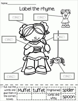 Little Miss Muffet - Literacy & Math for Early Learners