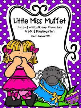 Little Miss Muffet Literacy and Writing Pack