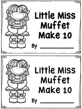 Little Miss Muffet Make 10 Booklet