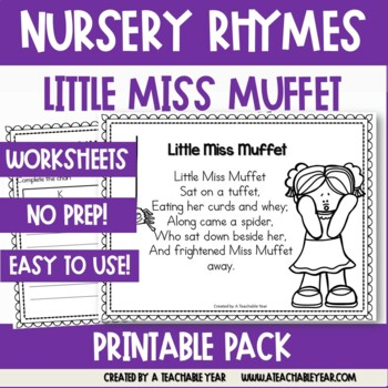 Little Miss Muffet - Nursery Rhyme
