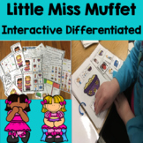 Little Miss Muffet:Nursery Rhyme Interactive, Sequence, Social Skills,
