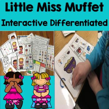 Little Miss Muffet:Nursery Rhyme Interactive, Sequence, Social Skills,